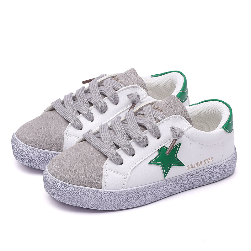Children Casual Shoes Kids Flat White Girls Boys Light Sneakers School Shoes Fashion Sports Breathable Pu Leather Spring Autumn