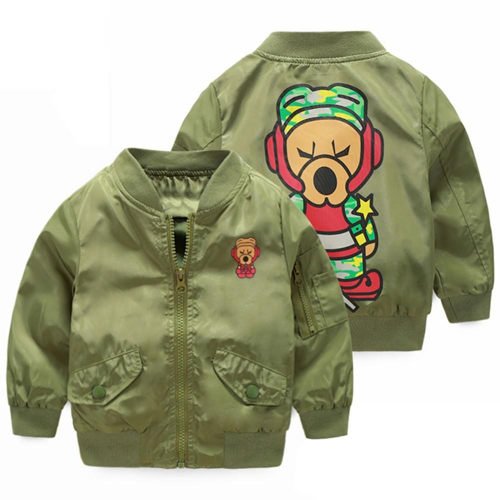 1eda0658f LittleSpring Boys Girls Bomber Jackets Children Colorful Waterproof ...