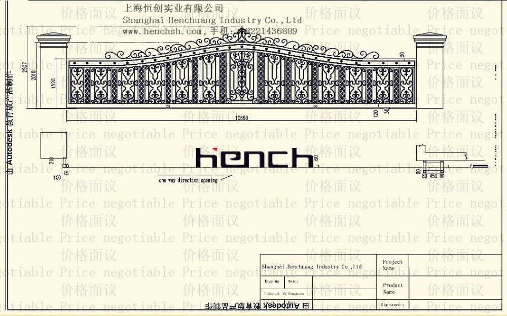 Континентальный железные ворота классический дизайн ash163-4