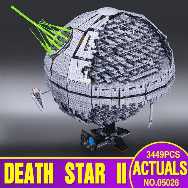 НОВЫЙ ЛЕПИН 05026 Звездные войны Звезда Смерти второго поколения 3449 шт. Строительный Блок Кирпичи Игрушки Совместимые с 10143 Подарки