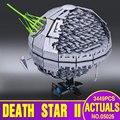 NUEVA LEPIN 05026 Star Wars Estrella de La Muerte La segunda generación 3449 unids Juguetes de Bloques de Construcción Ladrillos Compatible con 10143 Regalos