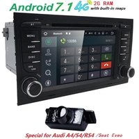 Two 7 Inch Android Car DVD Player Audio For Audi A4 S4 2002 2008 Quad Core