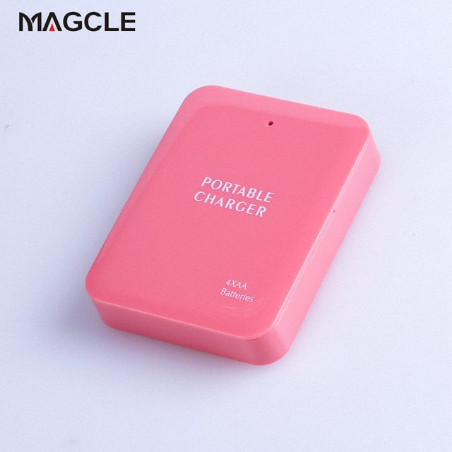 Powerbank 4X AA Battery Emergency USB Power Bank Charger Portable Charger for Phone Colorful Various Free Shipping