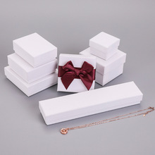 Hot sale 5pcs multi size Spot white jewelry packaging box necklace&earring&ring box paper gift boxes