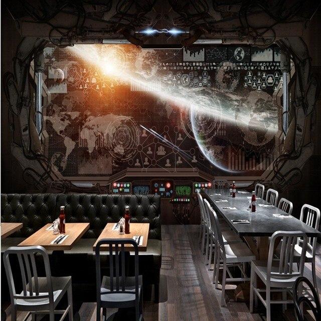 peinture murale personnalise personnalis 3d stro restaurant murale papier peint salle de jeux murale espace cosmique