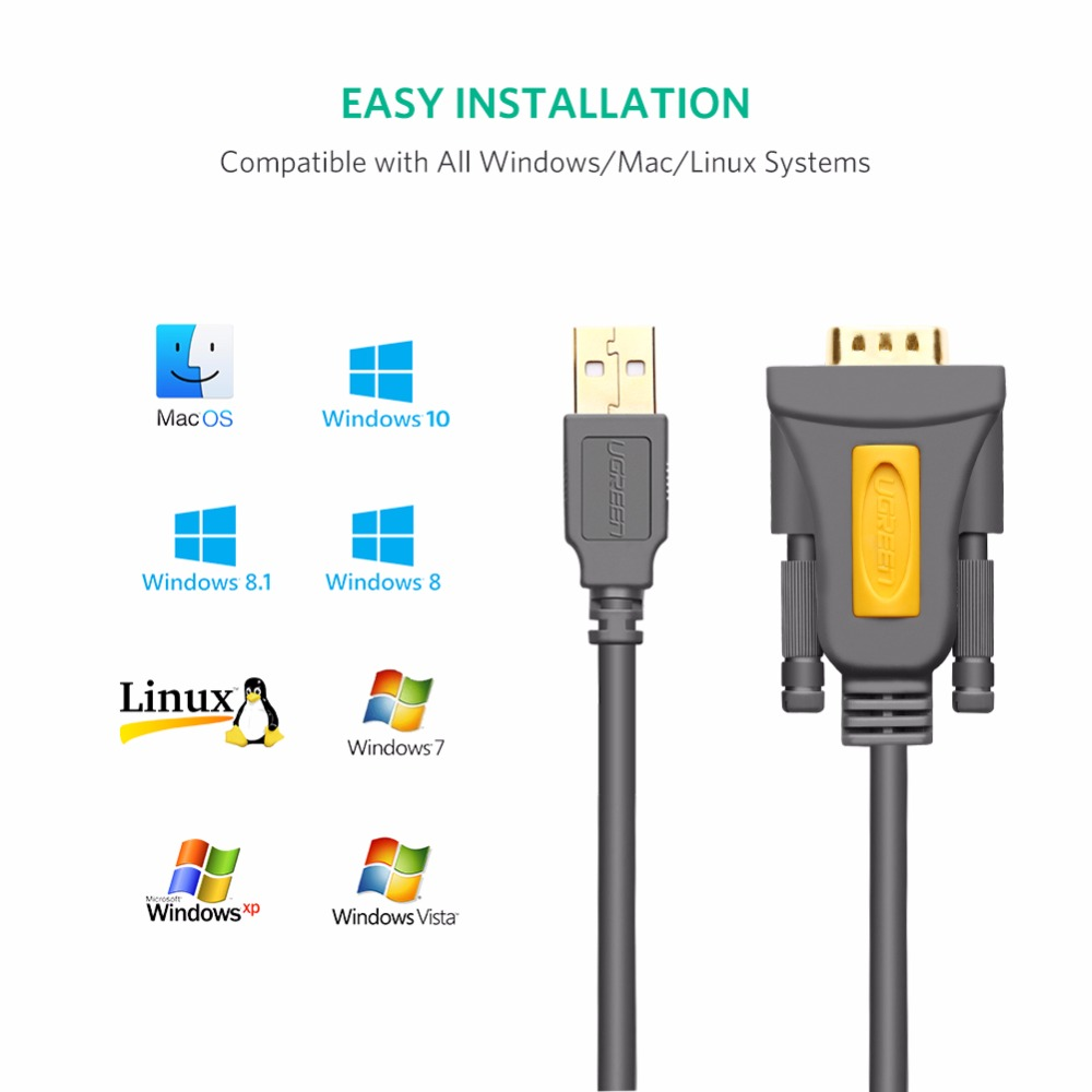 lowest price Ugreen USB to RS232 COM Port Serial PDA 9 DB9 Pin Cable Adapter Prolific pl2303 for Windows 7 8 1 XP Vista Mac OS USB RS232 COM