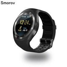 Y1 Смарт-часы Круглый Поддержка Nano SIM и карты памяти с Bluetooth 3.0 Для мужчин Для женщин Бизнес SmartWatch для IOS Android