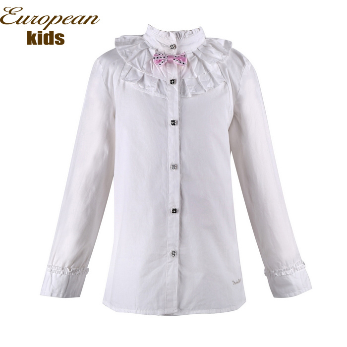 New 2015 spring autumn girl shirt brand full sleeve kids for Top dress shirt brands