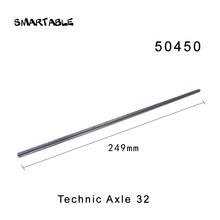 Smartable 32 Technic Axle 249 milímetros Peças de Blocos de Construção de Brinquedos Para Crianças Educacional Criativo Compatível 50450 10 pçs/lote