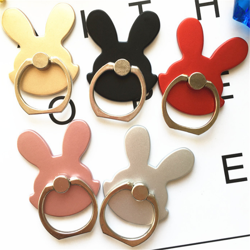 Reusable Animal Rabbit Finger Ring Smartphone Phone Stand Holder Mobile Phone Holder Stand For IPhone IPad Huawei All Phone