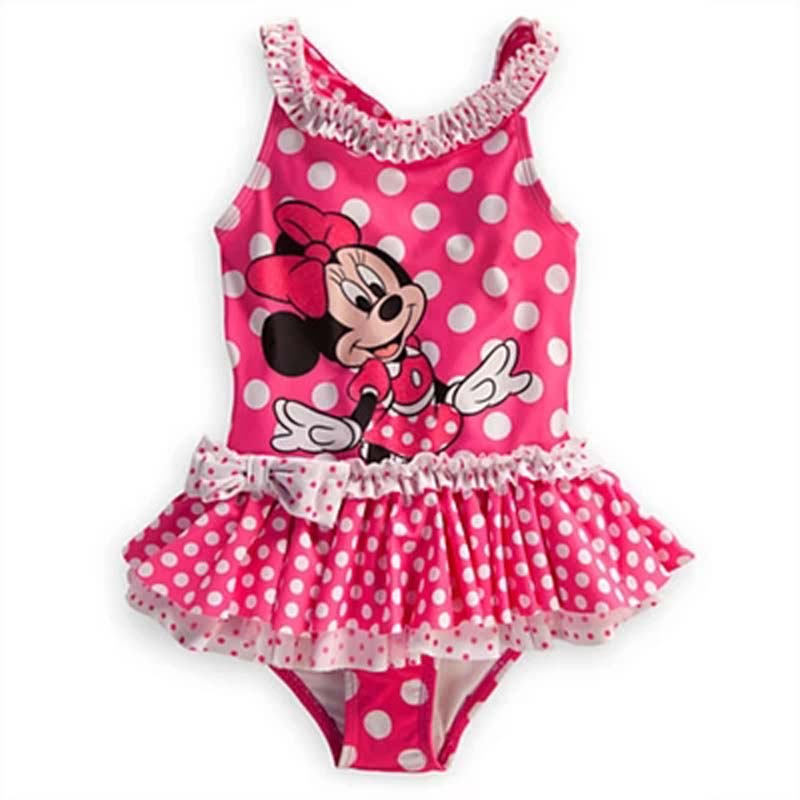 Retail Original Brand Girls Pink Minnie Mouse Swimsuit