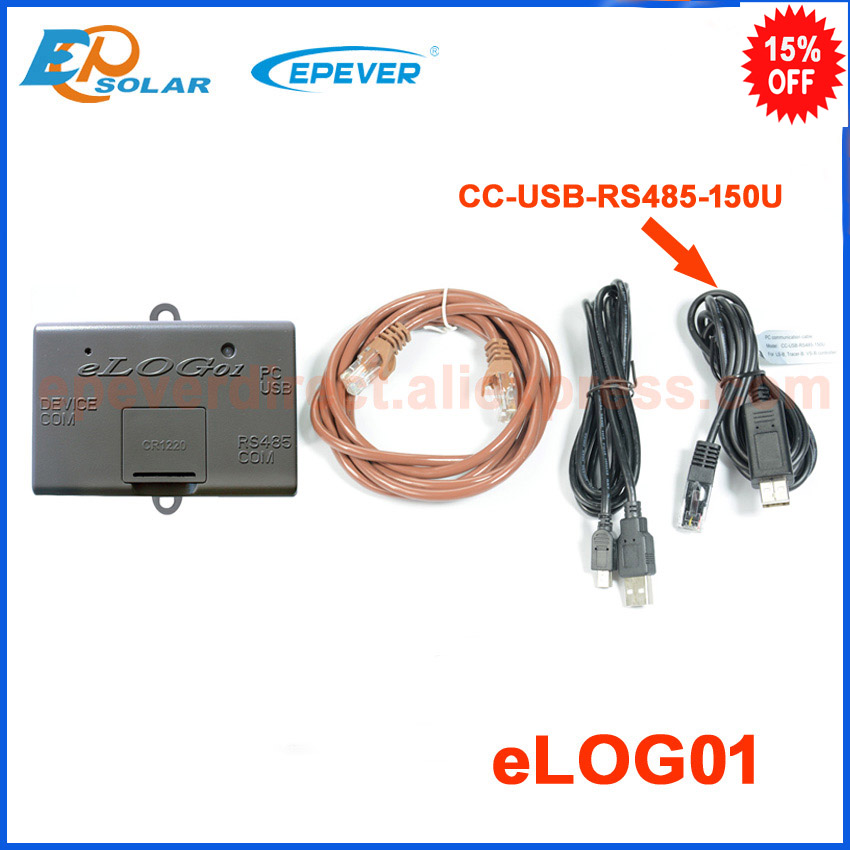 Record données fonction accessoire eolog01 assortie avec contrôleur de RS485 interface EPEVER EPsolar