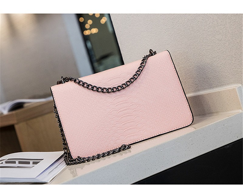 Luxury Handbags Women Bags Designer 2018 Alligator PU Leather Version Of Black Blue Gray Clutches Chains Ladies Crossbody Bags 22