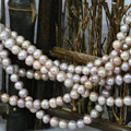 fashion hot sale freshwater natural cultured pearl beads round 7-8mmwomen top quality jewelry making 15inch B1368