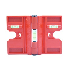 HACCURY 340 degree folding cylinder magnetic level Pipeline pillar installation Bubble level Red Color цены онлайн