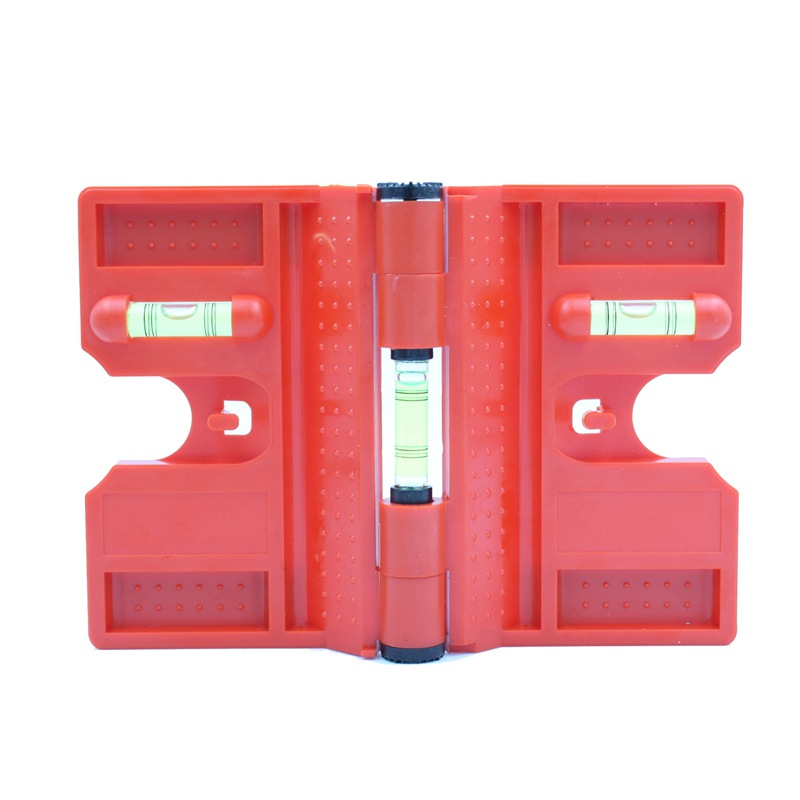 HACCURY 340 graus dobrável cilindro magnético nível Gasoduto instalação pilar Bolha nível de Cor Vermelha