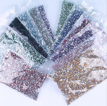 20000PCS Crystal Flat Back Resin Rhinestones Gems 12 colors 2mm /bag Flatback resin Beads Nail Art/Craft 2MM