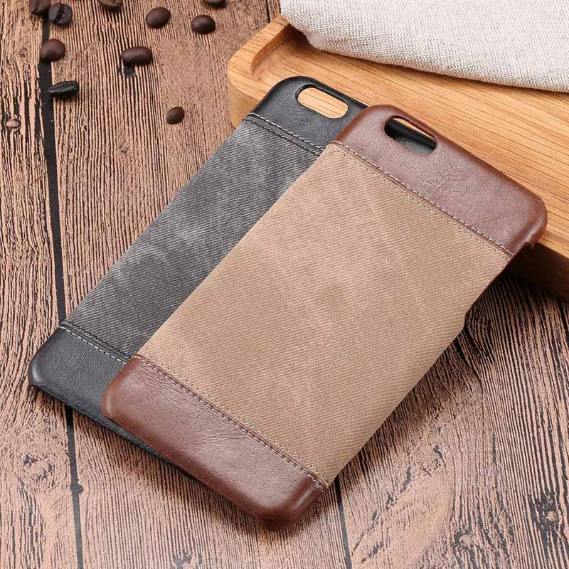 Retro 6S Case for iPhone 6 S Plus Case Cover for iPhone 7 Plus Back Cover for iPhone SE 5 S Leather Cover Cowboy Style 5S Case