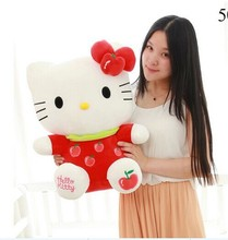 big lovely fruits kitty toy plush apple kitty toy cute red kitty toy perfect gift about 55cm