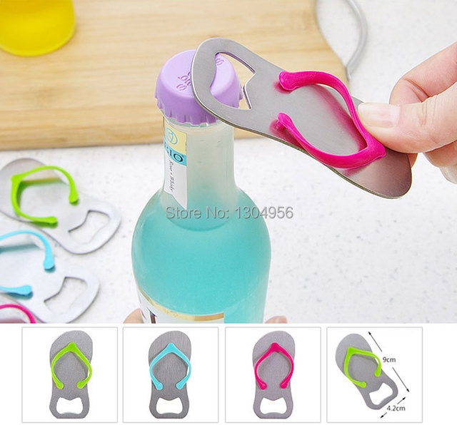 99f59a0ad Creative Sandals Shose Beer Bottle Opener Red Wine Openers Slipper Shaped  Wedding Favor Gifts 9 4.3cm 100pcs lot KY0163