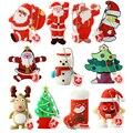USB Flash Drive 128GB pen Drive con dibujo animado muñeco de nieve árbol de Navidad regalos 1 GB 2GB 4GB 8GB 16GB 32GB 64GB Santa Claus Pendrive