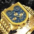 TEMEITE männer Luxus Goldene Quarz Uhren Männer Military Wasserdicht Männlichen Armbanduhren Relogio Masculino Dourado Dropshipping