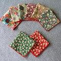 Мужчины цветы подсолнечника цветочные карманный площадь ханки хлопок проката платок BWTYX0143