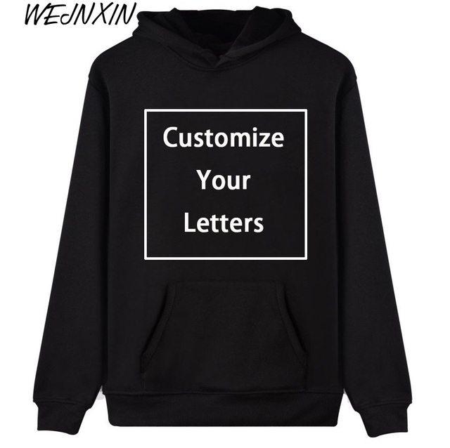 WEJNXIN Men Women Customize Hoodies Custom Logo Personalized Sweatshirt  Your Own Design and Logo Unique Couple Love Clothes ab98c6e783