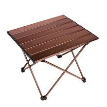 קל משקל אלומיניום סגסוגת Multiuse חיצוני עמיד למים מתקפל שולחן מיני פיקניק שולחן קמפינג קשה עקף נייד קל נקי