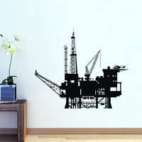 EHOME Oil Rig Transport Wall Stickers Decorative Vinyl Wall Art Sticker Home Decor Wall Decals With