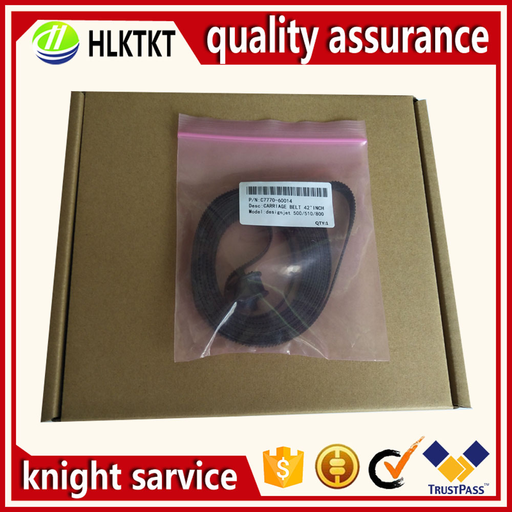 2PC 24 inch A1 C7769-60182 42 inch B0 C7770-60014 FOR HP DesignJet 500 510 800 815 820 500ps 510PS 800PS Carriage Belt assembly c6095 60182 c2386a 60 inch rollfeed spindle rod assembly for hp dj 5000 5100 5500 compatible new