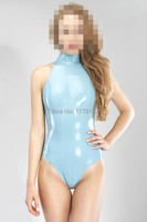 Latex Catsuit Latex swimsuit with high neck and back zipper Latex Swimsuit