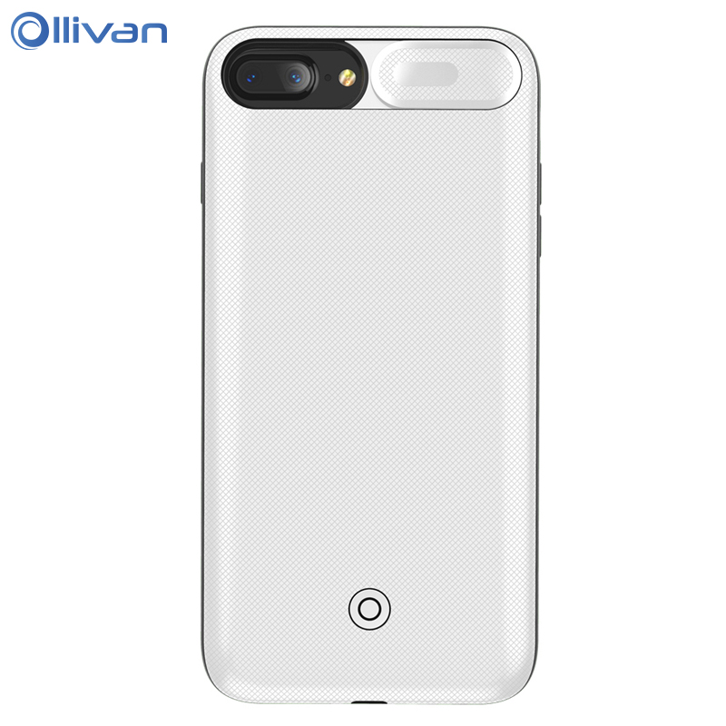 OLLIVAN 4200mAh Battery Charger Cases for iPhone 7 Plus Power Bank Charing Case for iPhone 6 6s 7 8 Plus Backup Charger Cover