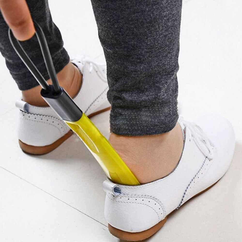 Пластик длинной ручкой Shoehorn прочной рожок для обуви Lifter ложка Мода