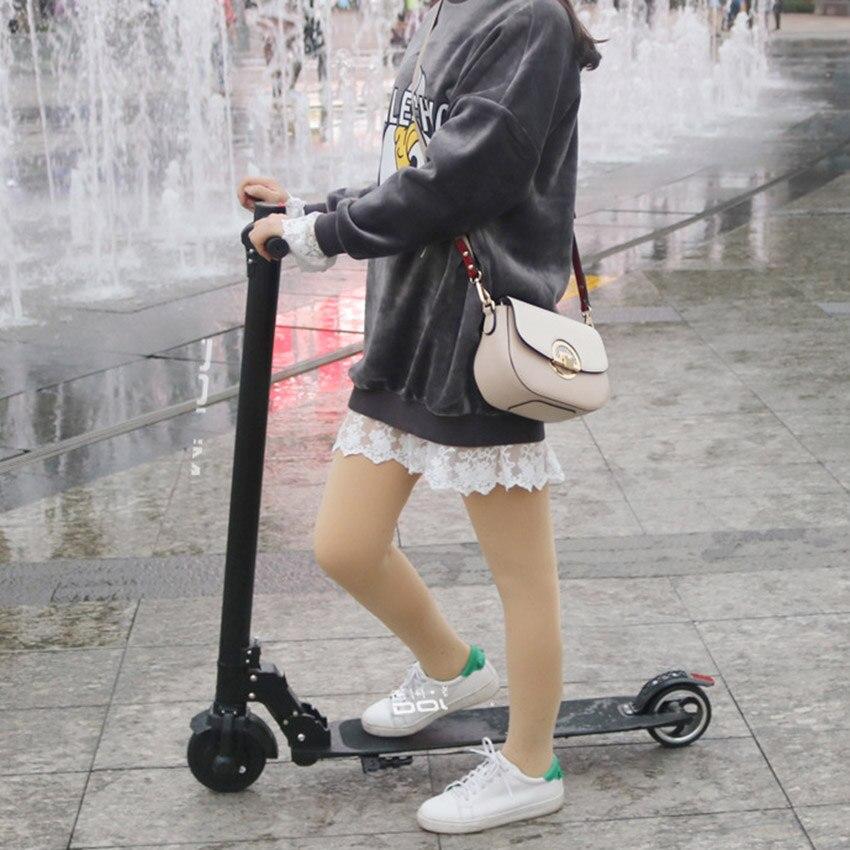 6,5 Zoll Rad 36 V 300 W Faltbare Elektrische Roller FÜhrte Scheinwerfer Li-ion Batterie Mit Speed Tempomat Geschwindigkeit Lassen Sie Unsere Waren In Die Welt Gehen Rollschuhe, Skateboards Und Roller