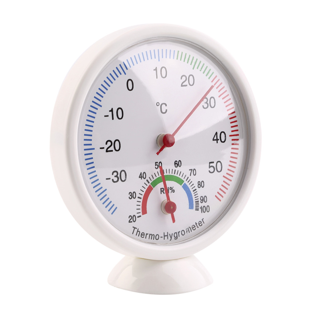 High Quality Indoor Outdoor Thermometer Hygrometer Temperature Meter New new arrival in Temperature Instruments from Tools