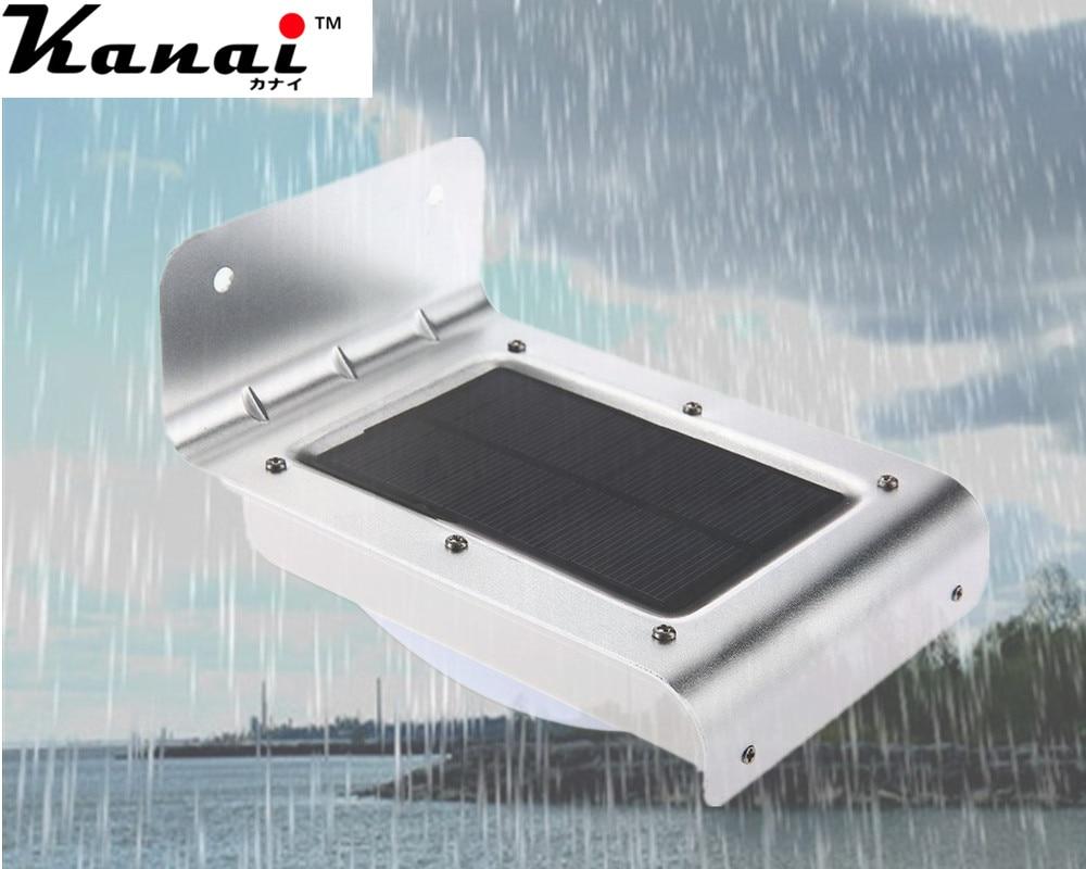 4PCS 3528 16 LED Solar Power PIR Motion Sensor Wall Light Outdoor Waterproof Energy Saving Street