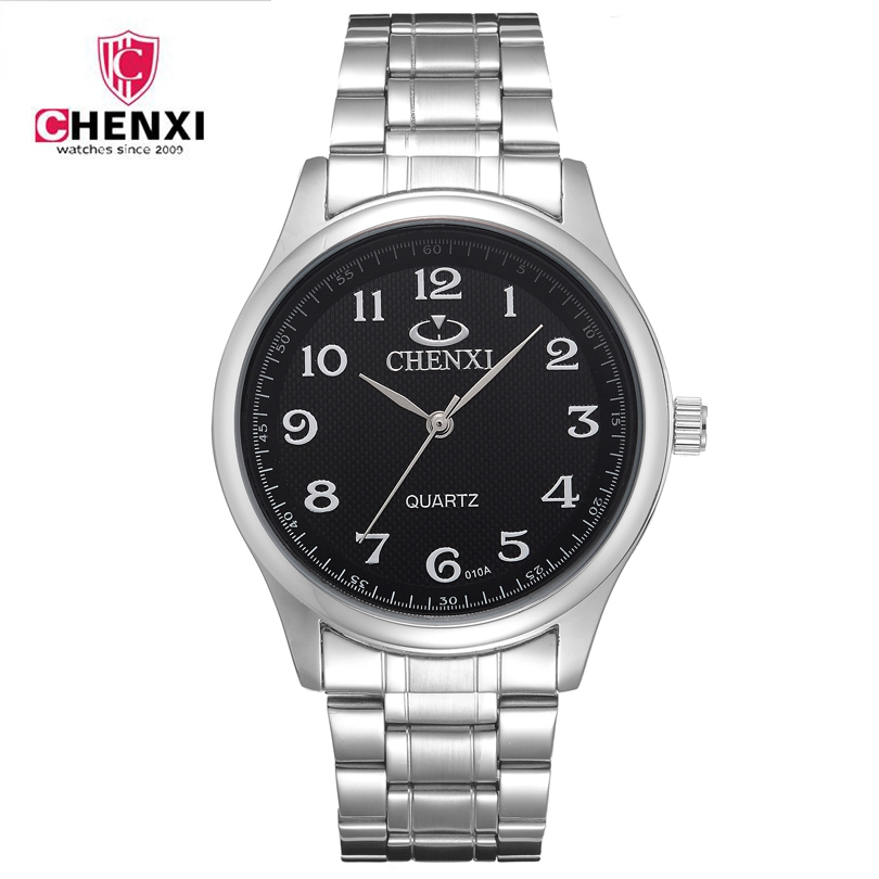 Hot 2018 CHENXI Stainless Steel Business Wristwatches Waterproof Vintage Men Women Couple Watches Best Gift  Drop Shipping