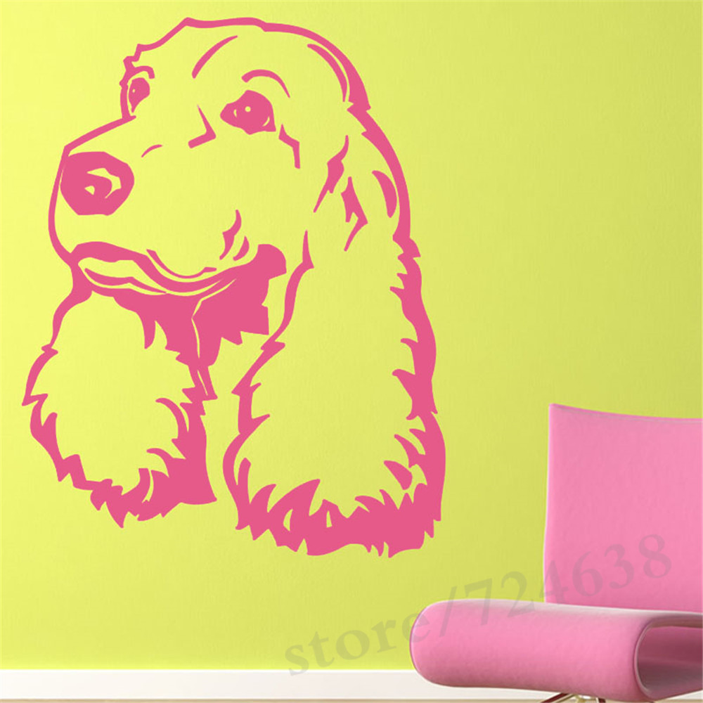 Favorite Puppy Dog Cute Wall Stickers Home Decor Living Room Hollow ...