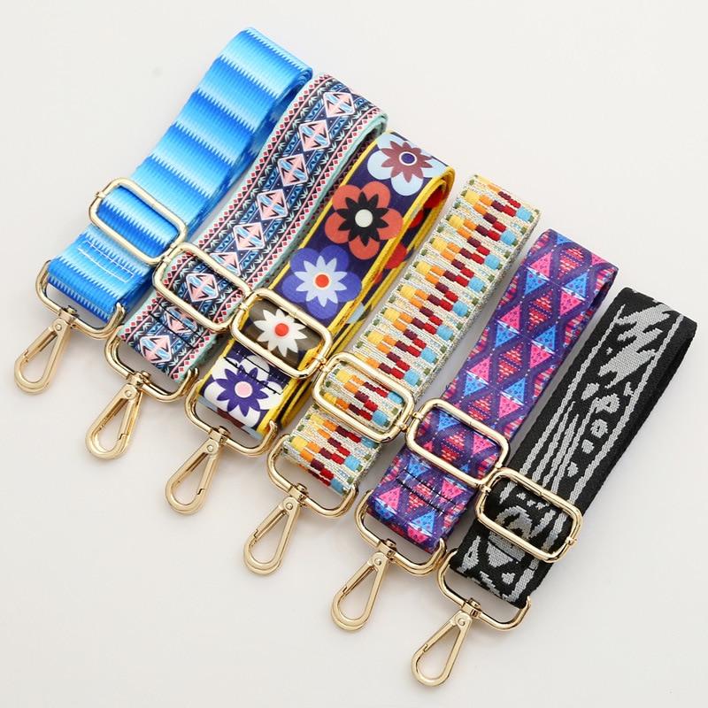Rainbow Belt Bag Straps Nylon For Women Shoulder Messenger Bags Adjustable Wide Strap Parts For Accessories O Bag Handle Handbag