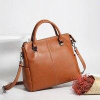 2018 Women Genuine Real Leather Large Tote Purse Shoulder Messenger Crossbody Bag Fashion Handbag Vintage Daily Casual Designer