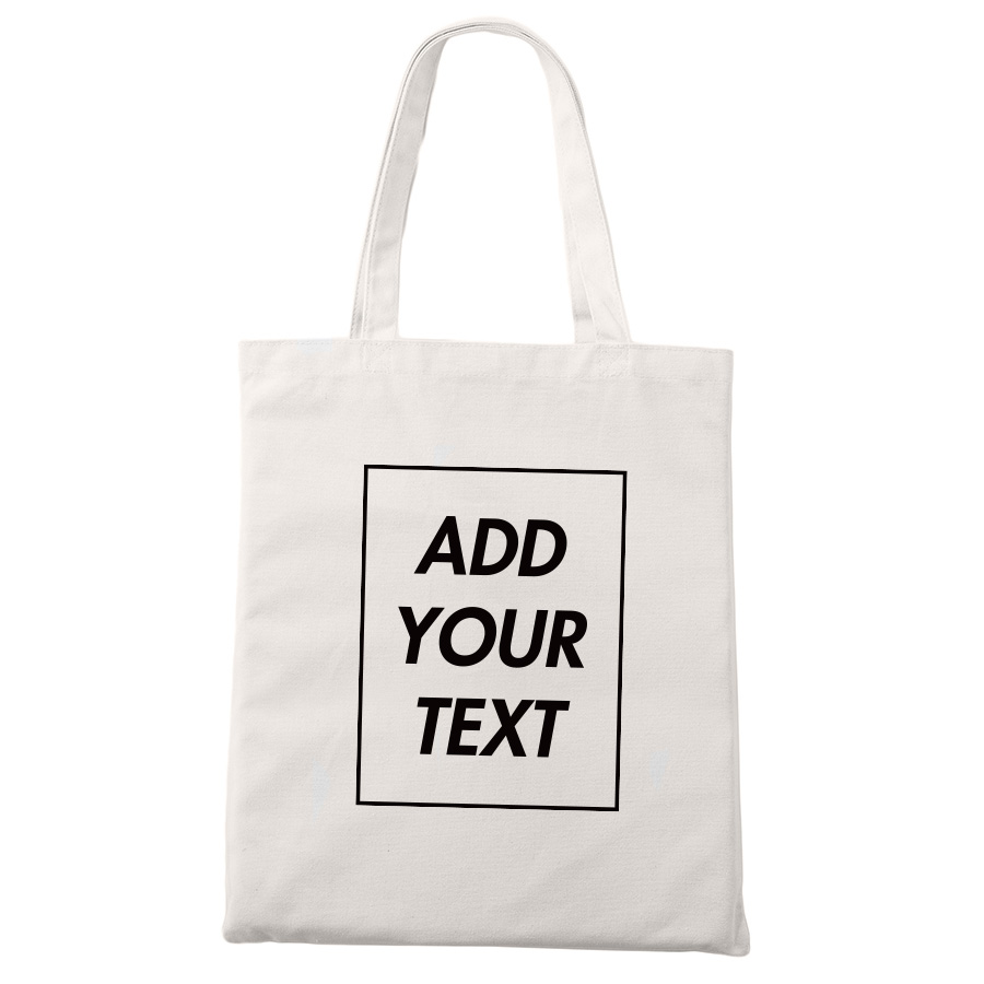 Custom Tote Bag Shopping Add Your Text Print Original Design White Zipper Unisex Fashion Travel Canvas Bags