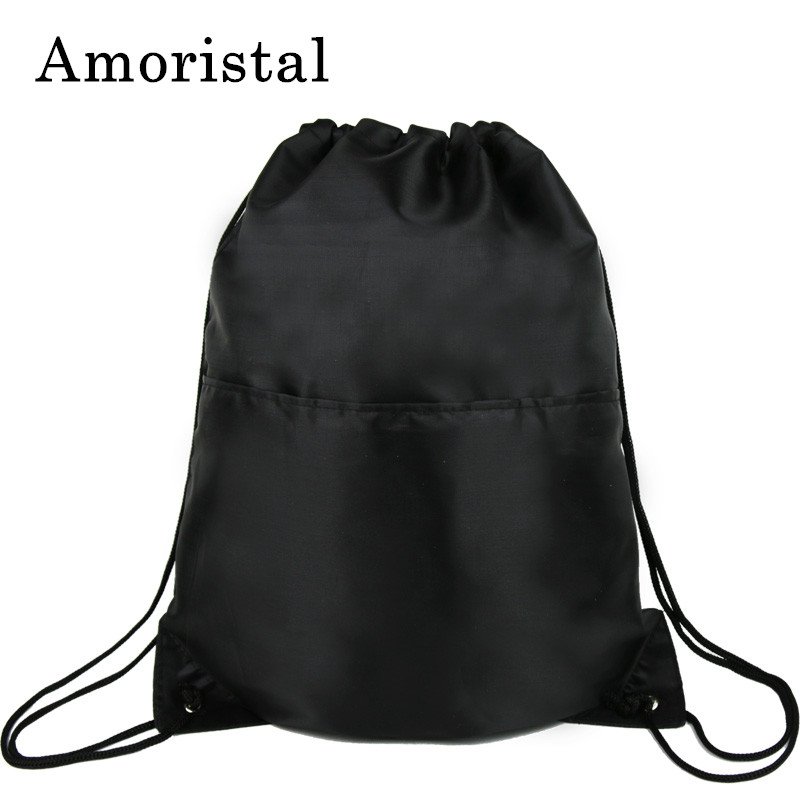 Unisex Drawstring Bag High Quality Polyester Men Football Bags Women String Sack Backpack Male Folding Shopping Mochila Sac B215