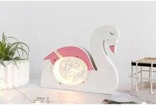 1PC Creative Pink Swan Piggy Bank Cartoon Cute Money Box For Kids Exquisite Decoration salvadanaio Children Birthday Gift MA 030