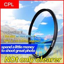 Zomei 52 мм CPL круговой поляризатор поляризационный фильтр для Canon Nikon Sony Объективы для фотоаппаратов 40.5/49/52/55 /58/62/67/72/77/82 мм