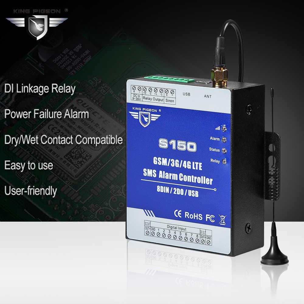 جي إس إم إنذار الجيل الثالث 3G 4G الخلوية RTU SMS التتابع التبديل الصناعية IoT نظام الرصد عن بعد في بنيت الساعات 8DIN 2DO S150