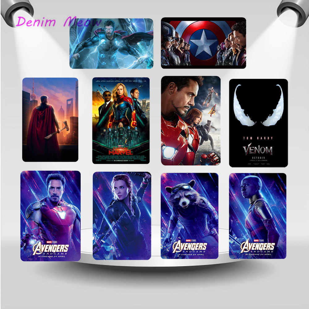 Marvel Charackers Vintage Decorative Metal Plates The Avengers Super Hero Painting Wall Art Sticker Pub Bar Cafe Home Decor WY47