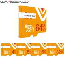 Оригинал WANSENDA Micro SD Card 64 ГБ Класс 10 Карта Памяти microSD 8 ГБ 16 ГБ 32 ГБ TF Карты microSDHC/SDXC для Смартфонов/Tablet PC