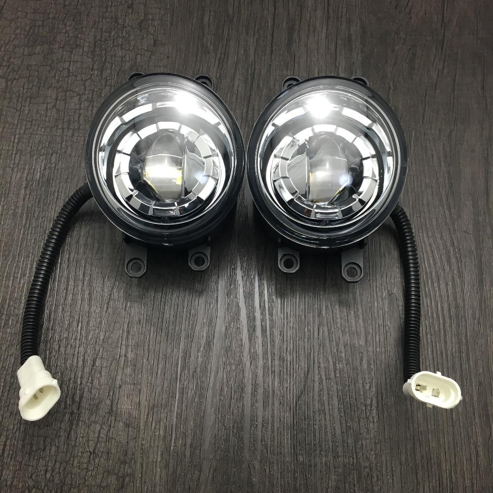 2шт алюминиевый сплав передний бампер светодиодные Противотуманные замена света для Лексус RX rx350 и / RX450h 2010-2013