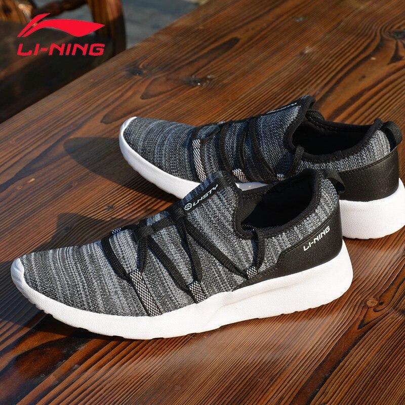Li-ning hommes fantaisie style de vie élégant chaussures Textile doux respirant baskets loisirs soutien doublure chaussures de Sport AGLM003 YXB046 - 3
